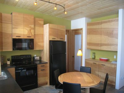Taos house rental - another view of the Kitchen/ Dining area