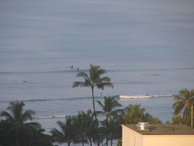 View of Waikiki Beach from lanai