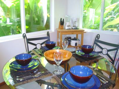 Dining for 4 in a Lush Tropical Setting!