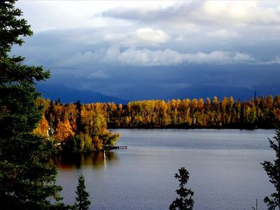 Big Lake house rental - Chugach Mountain View overlooking Echo Lake
