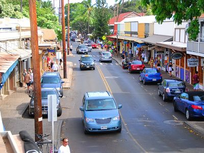 Fun downtown Lahaina is only about 5 miles away