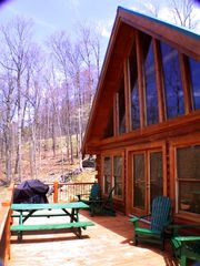 Golden Valley cabin photo - Large open front porch - side porch is covered