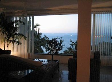 View of the Bay of Banderas from living room