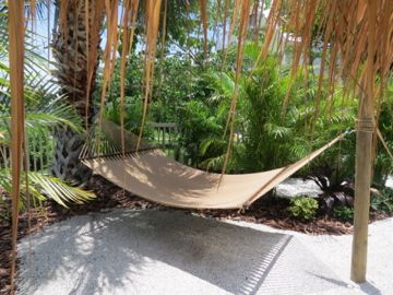 Resort Style Hammock on Backyard Beach Sirenia Beach House, Anna Maria Island