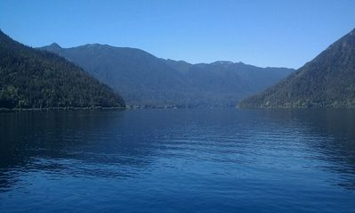 Lake Crescent is known for its beautiful crystal clear turquoise water