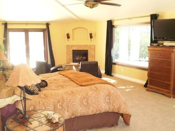 Master Suite with fireplace and large remodeled master bath.