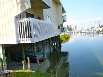 Yes, our unit is right on the canal! Dock your boat, kayak, or fish nearby.