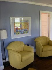Englewood cottage photo - View of sitting area in living room overlooking Lemon Bay