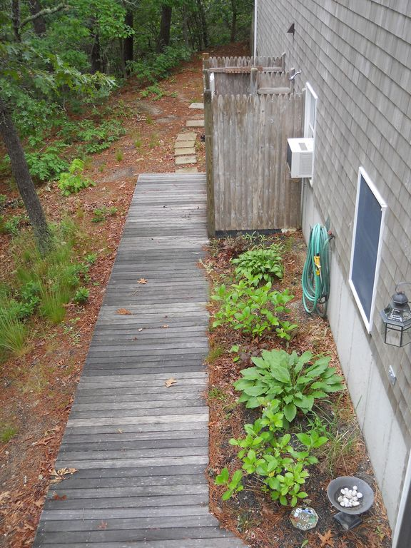 Walkway to outdoor shower
