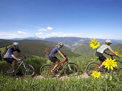 Hiking and biking trails offer spectacular views