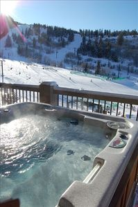 View of the slopes from the Private Jacuzzi Tub