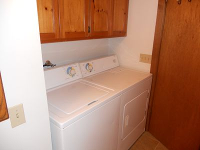 Blue River cabin rental - Full Size Washer and Dryer