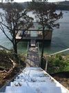 Large dock, lights for night fishing, tv, table, private 24' boat slip