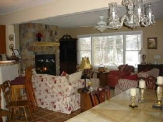 Greatroom w/ Beautiful Stone Fireplace, TV, DVD, VCR, Stereo - Interlochen house vacation rental photo