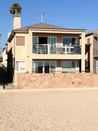 Seal Beach townhome rental - The home sits directly on the beach just a short beach path stroll to the pier.