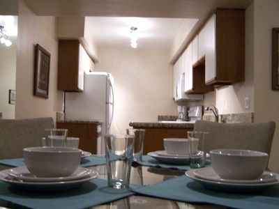 Palm Springs condo rental - Beautiful Fully Equipped Kitchen with New Granite Countertops and New Appliances