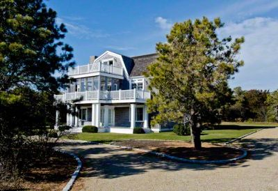 Martha's Vineyard Rental Katama Beach House: The Property Is Nicely Landscaped & Set Back On A Circular Driveway