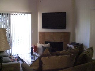 McCormick Ranch Scottsdale condo photo - living room, fire place, LED HD TV