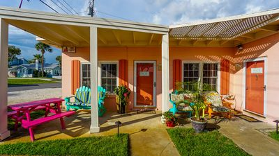 Beach getaway 100 yards from the beach. Inquire about our 1BR cottage next door.