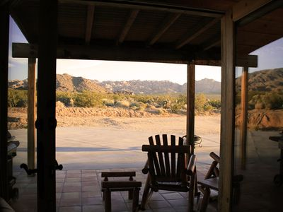 View of Joshua Tree National Park from living room.