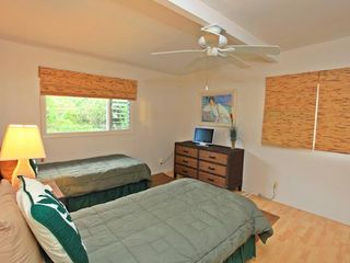 Haleiwa house photo - (3rd Bedroom) Twin beds with A/C, TV and beds can be converted to King
