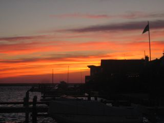Harvey Cedars cottage photo - Sunset from the dock