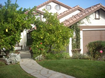 San Luis Obispo house rental - Front of home. Green grass is almost gone due to drought. Sorry. :(