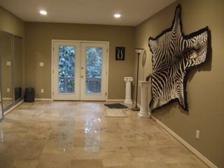 Mobile house photo - Bonus Room with Italian marble floors with access to deck and garage