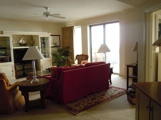 Kingston Plantation condo photo - View of Living Room to balcony