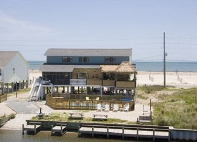 Ocean and inter-coastal with private  dock, pool, fire pit, hot tub and tiki bar