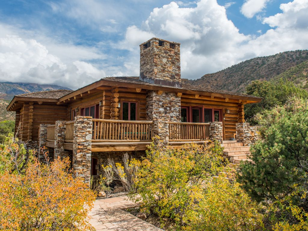 luxurious log cabin retreat near moab homeaway moab