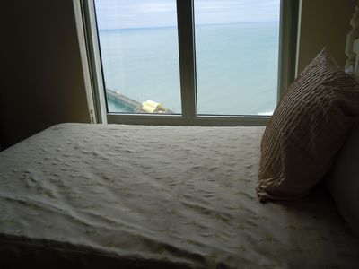 Ocean view from bed in Bedroom Two