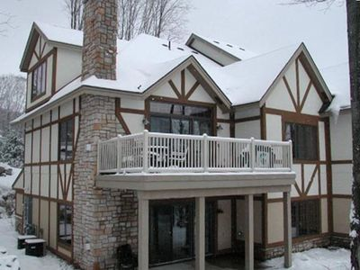 View from the Slopes - Unit is upper two floors