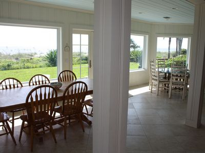 Beautiful ocean view from the dining room