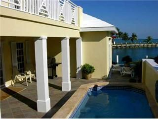 Pool deck overlooking Sea of Abaco