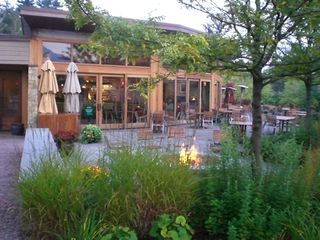 Stowe condo photo - Restaurant Patio Summertime