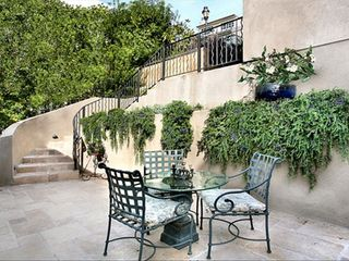 Laguna Beach house photo - Entrance patio with graceful travertine steps from garage level