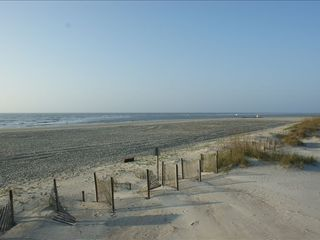Tybee Island condo photo - Sunday morning beach view at end of the street