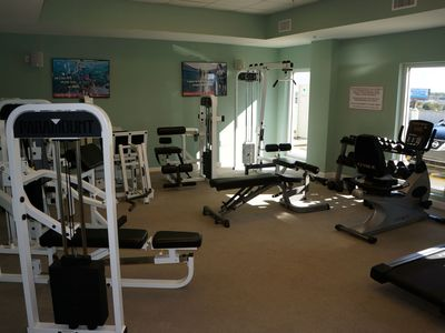 Workout room at the Seychelles.