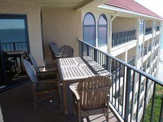 Wild Dunes condo photo - Spacious Balcony with Teak furniture and great views!