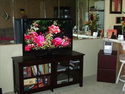 "42 "" Flatscreen TV with DVD player"