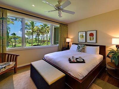 2nd Master Bedroom with King Bed and dramatic Ocean View