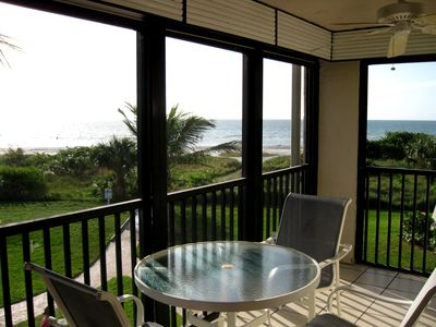 Enjoy Afternoons or Dinner on the Lanai Overlooking the Beach!