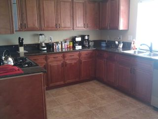 Well appointed kitchen with coffee and espresso bar.