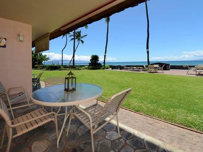 Your view from the lanai - about 50 feet from the ocean. Truly oceanFRONT.
