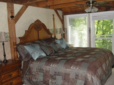 Master bedroom with King bed and separate private den.