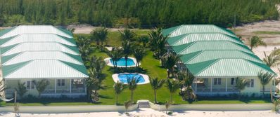 Treasure Cay house rental - Aerial photo from beach/ocean
