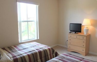 "One of 2 twin bedrooms - with new pillow top matresses and 22"" LCD TV"