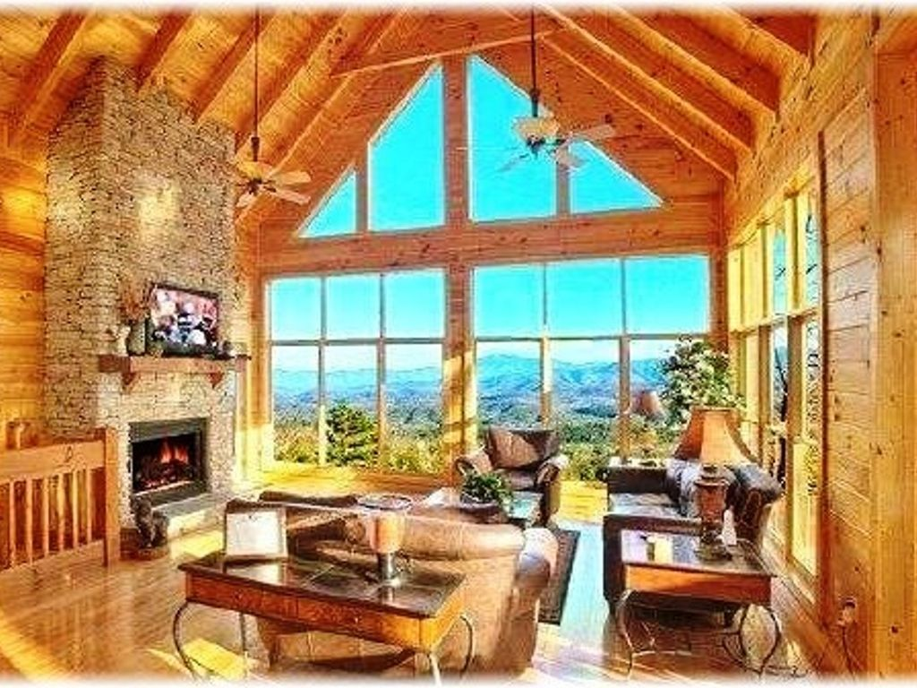 Blessings In The Sky Quot Beautiful Log Cabin Vrbo