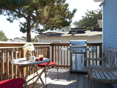 deck with ocean view and gas BBQ